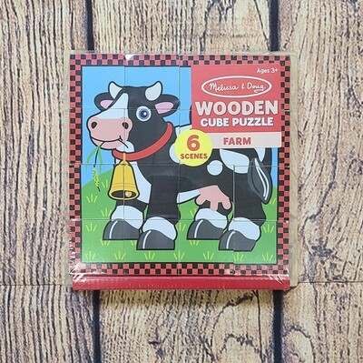 Melissa and Doug Wooden Cube Puzzle Farm
