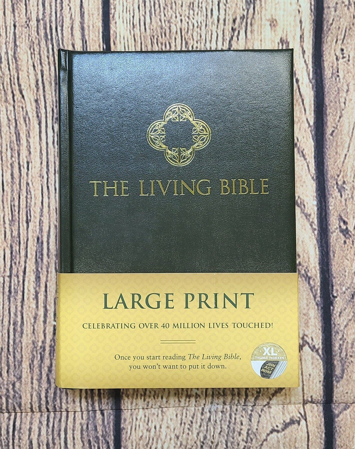 The Living Bible: Large Print - Green Padded Hardcover
