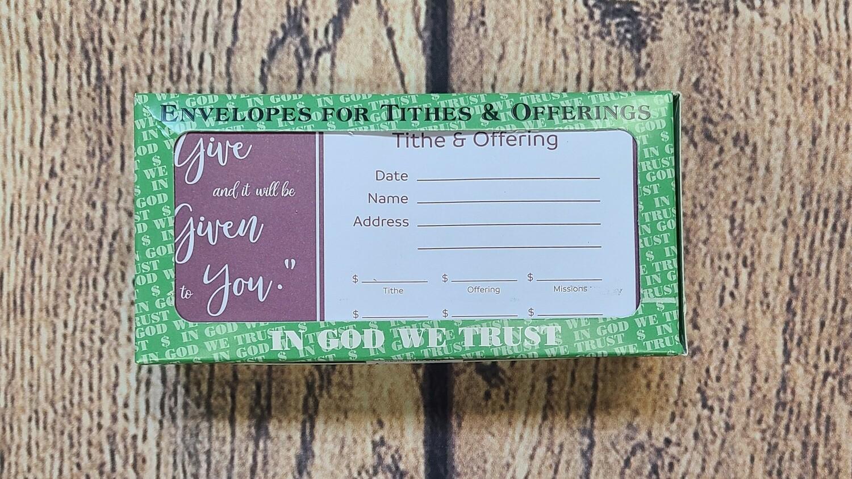 In God We Trust Offering Envelope