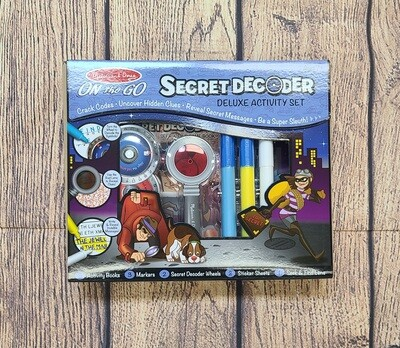 Melissa and Doug On the Go Secret Decoder Deluxe Activity Set