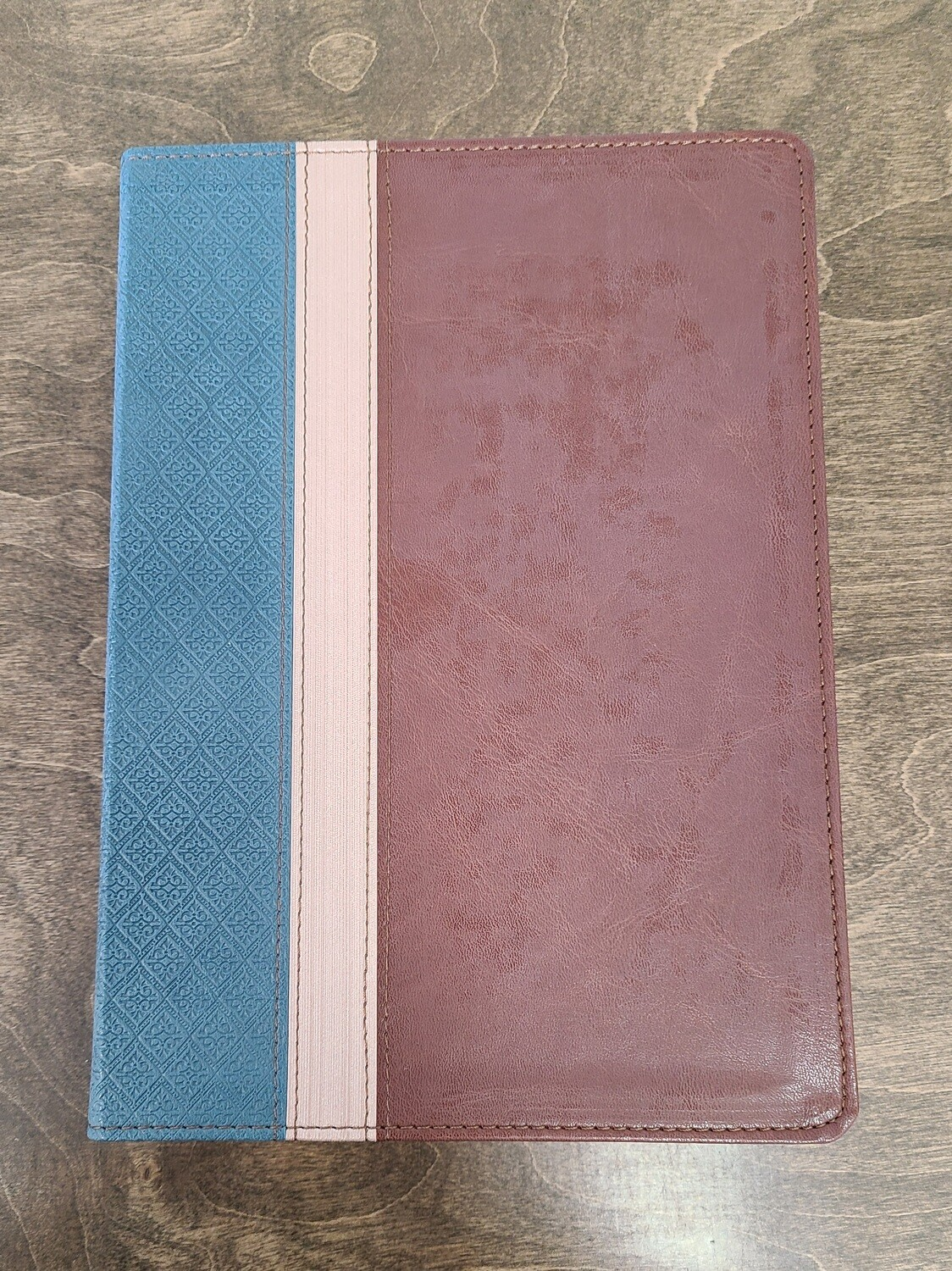 NLT Beyond Suffering Bible - Teal, Brown, and Rose Gold Leather