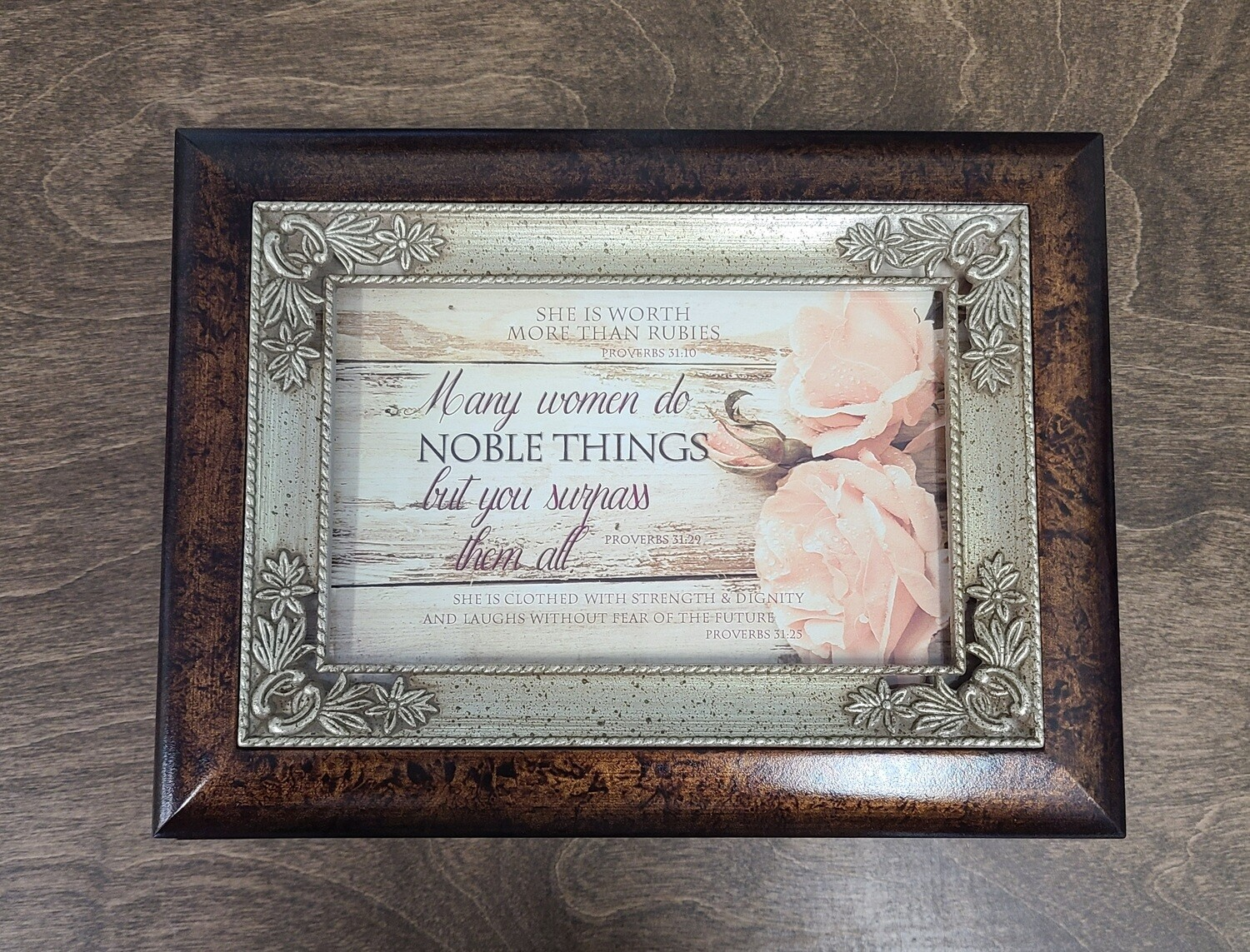 Proverbs 31:25 Strength and Dignity Music Box