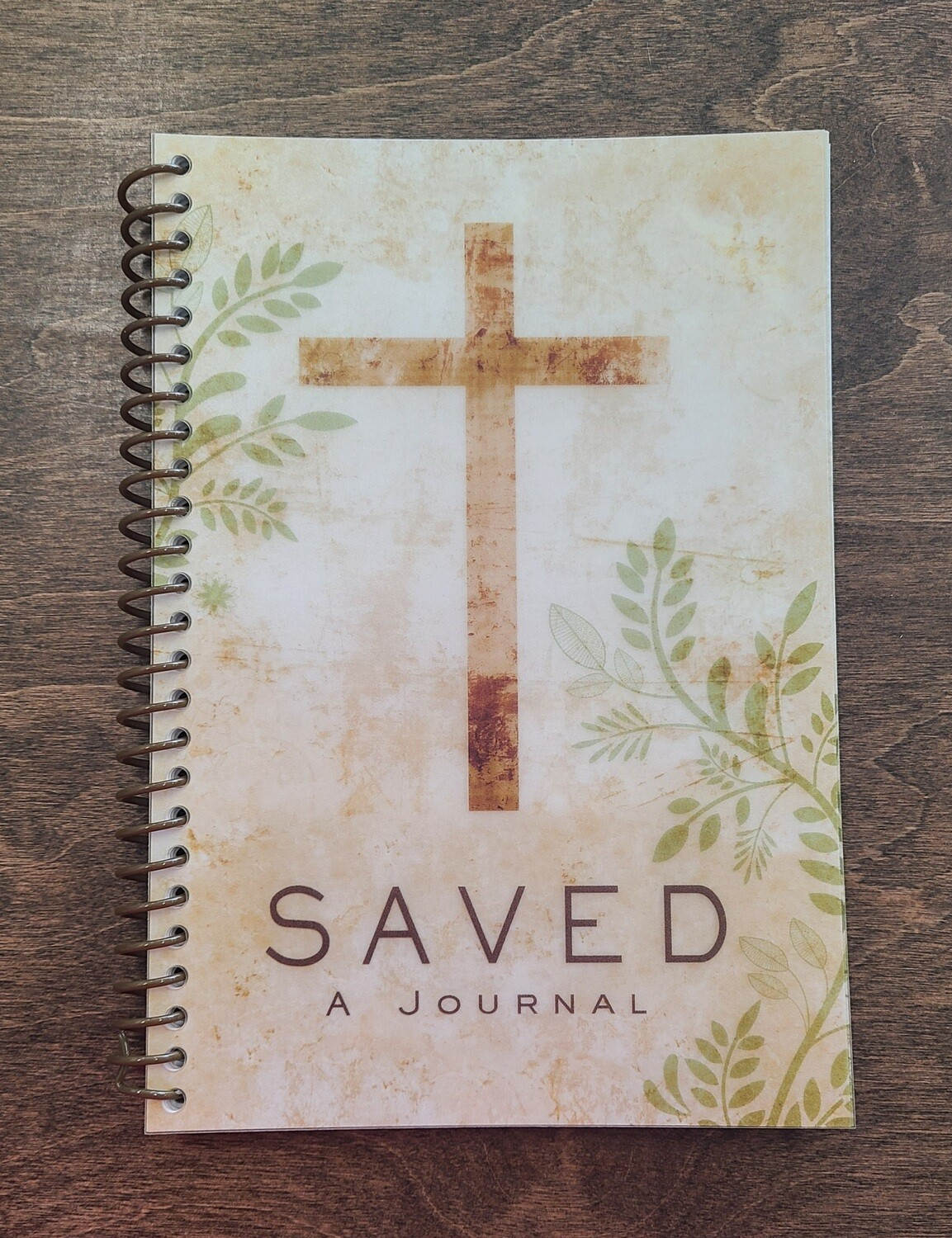 Saved Cross Wirebound Journal