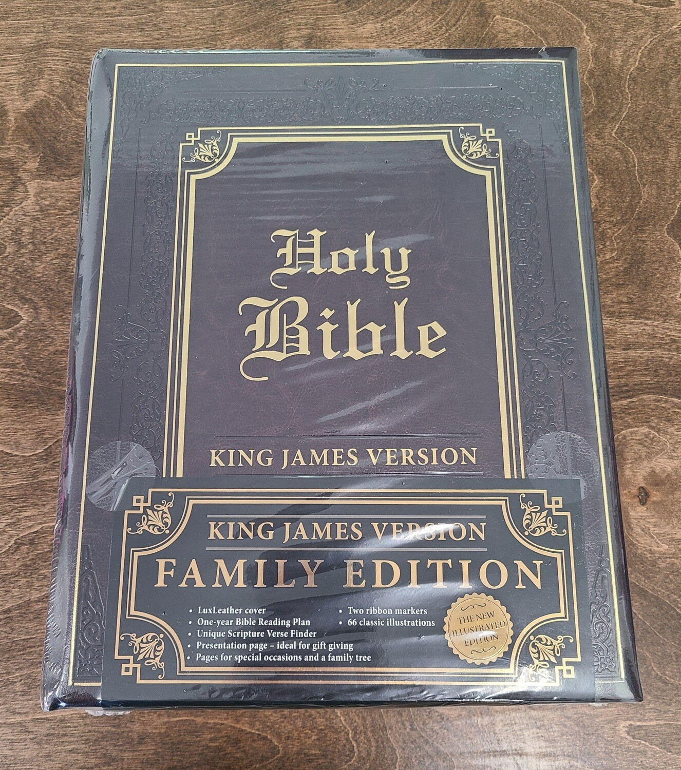 KJV Family Holy Bible Edition - Brown Leather