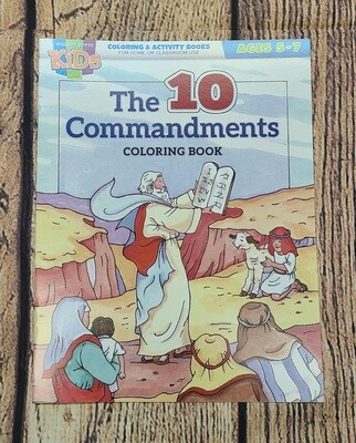 The 10 Commandments Coloring and Activity Book for Kids