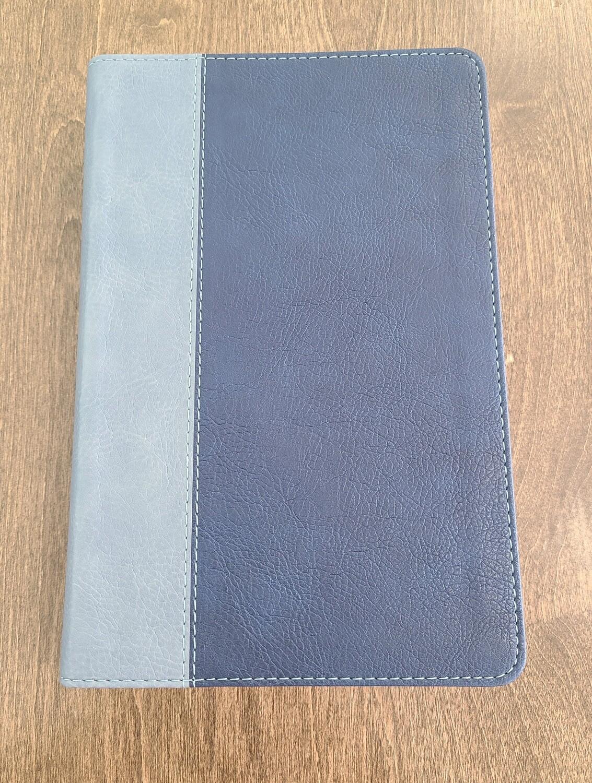 ESV Student Study Bible - Navy/Slate Soft Leather Look