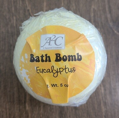 Bath Bomb - Eucalyptus - Yellow