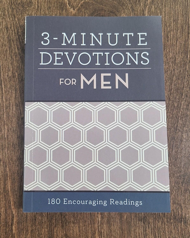 3-Minute Devotions for Men by Barbour Publishing Inc