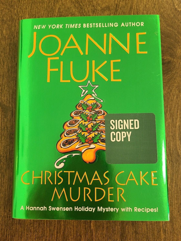 Christmas Cake Murder by Joanne Fluke - Signed Copy
