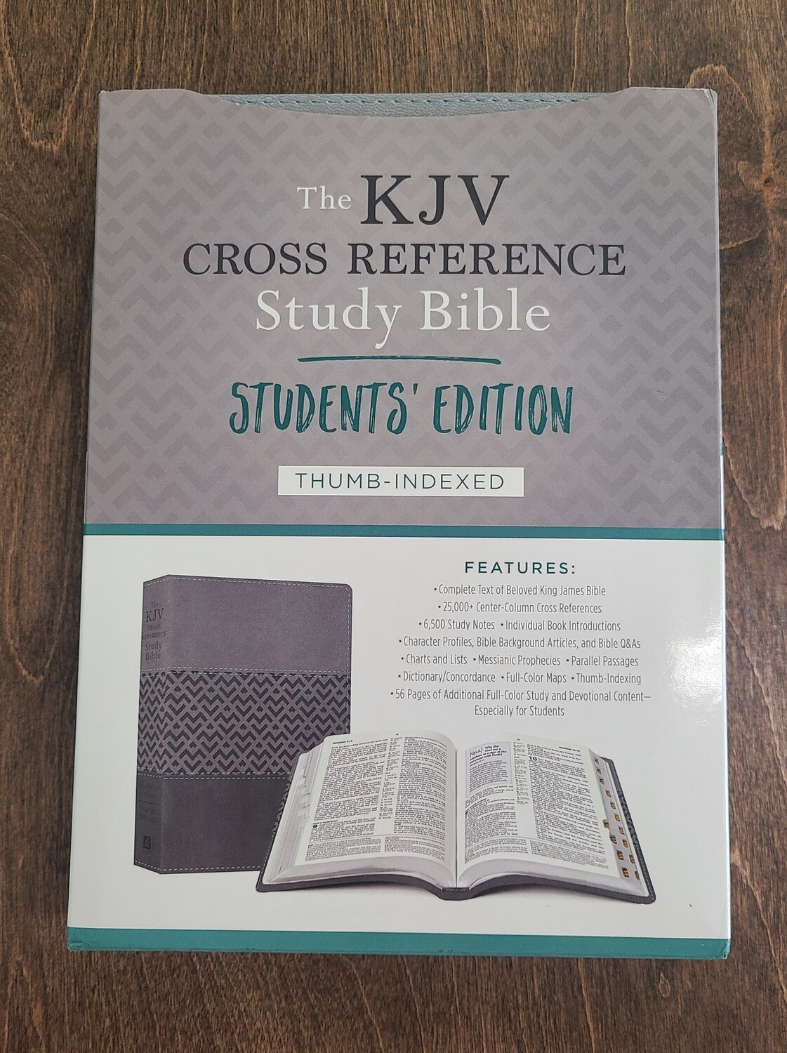 KJV Cross Reference Study Bible - Students Edition - Charcoal Thumb-Indexed