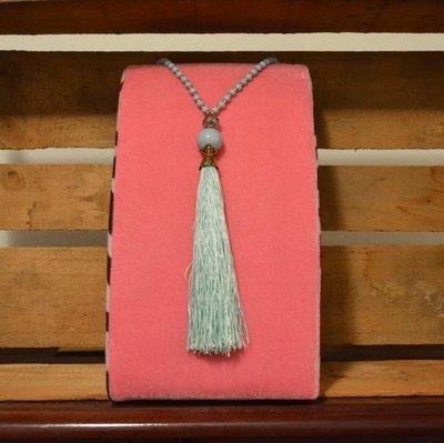 Mint Tassel Necklace