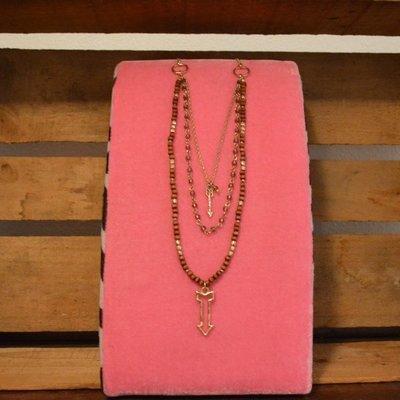 Goldtone Arrow Charm Necklace