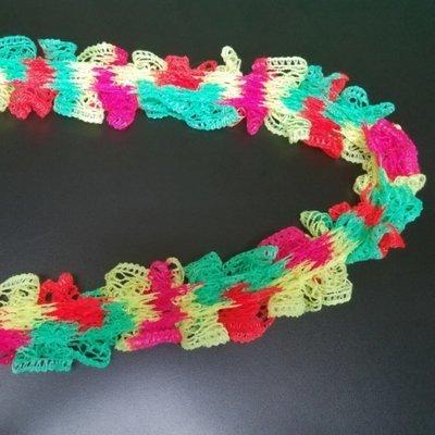 Neon Colored Ruffle Scarf