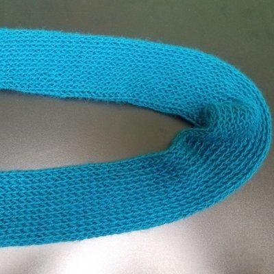 Handmade Velvet Blue Scarf