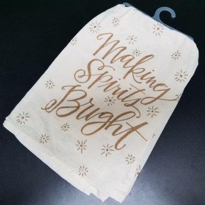 Making Spirits Bright Tea Towel