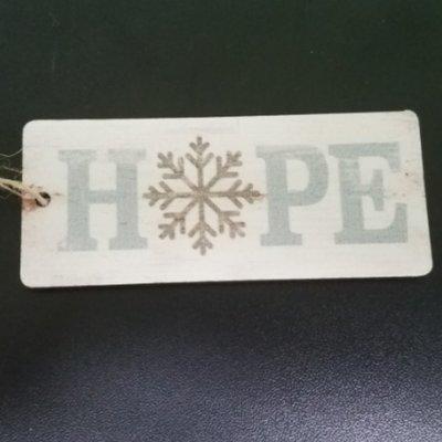 Hope Wood Ornament