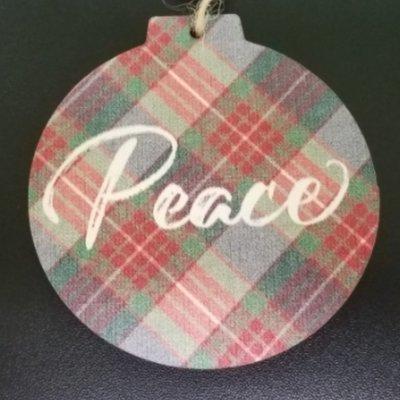Peace Wood Ornament