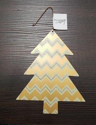 Tin Tree Ornament - Zig Zag Pattern - Primitives by Kathy