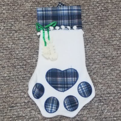 Blue Pet Christmas Stocking