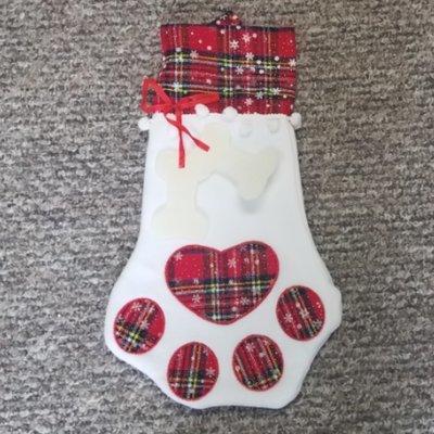 Red Pet Christmas Stocking