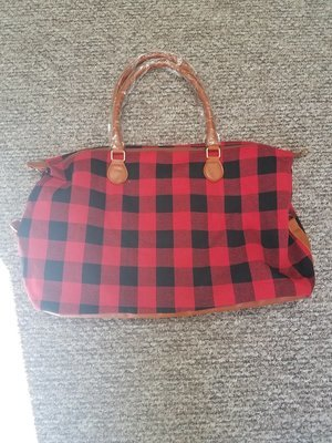 Buffalo Plaid Red Weekender
