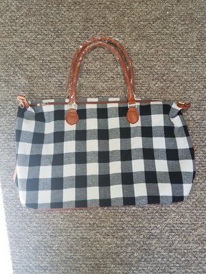 Buffalo Plaid White Weekender