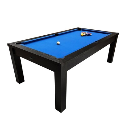 Riley Challenger Slate Pool Table - 7ft American Pool - Black or Oak Finish