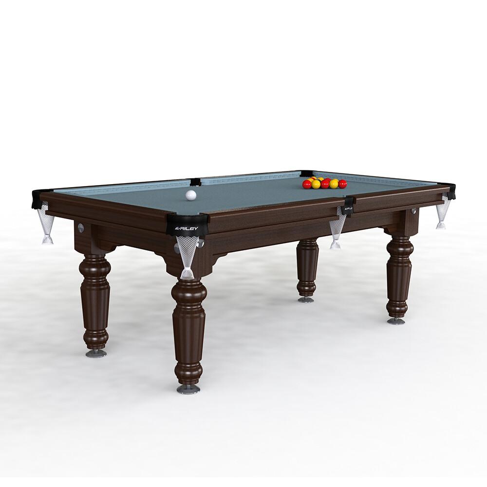 Riley Traditional Slate Pool Table - 7ft English Pool - Solid Wood - Hand Made