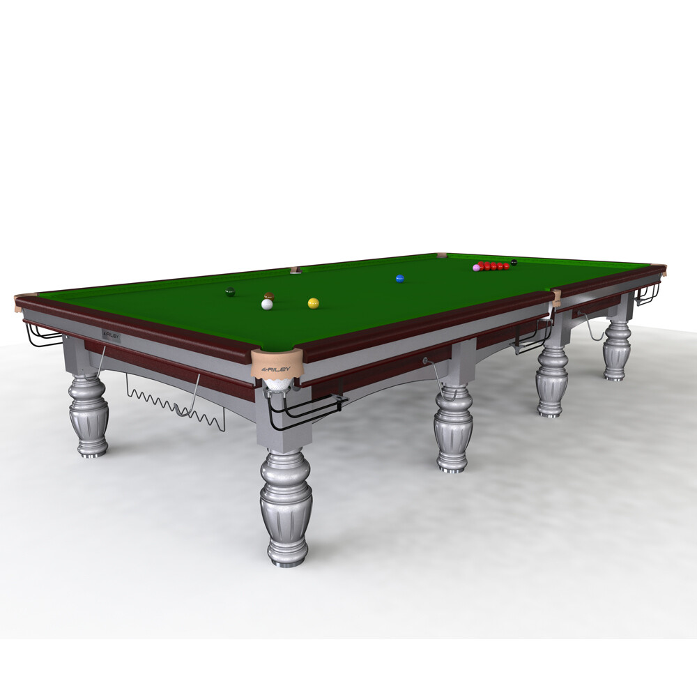 Riley Aristocrat Slate Snooker Table - Tournament Champion - Full size 12ft - Solid Wood- Hand Made
