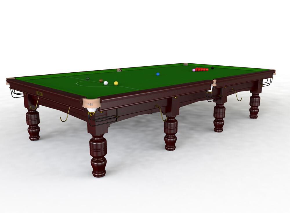 BCE Westbury Slate Snooker Table - Sapele Mahogany - Full Size - 12ft - Club Cut