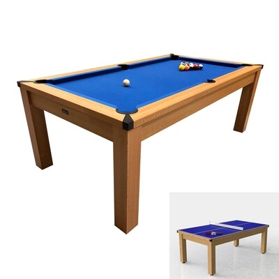 Riley Semi Pro American Pool Table- Black or Oak with Blue Cloth - 7ft - Metal Frame