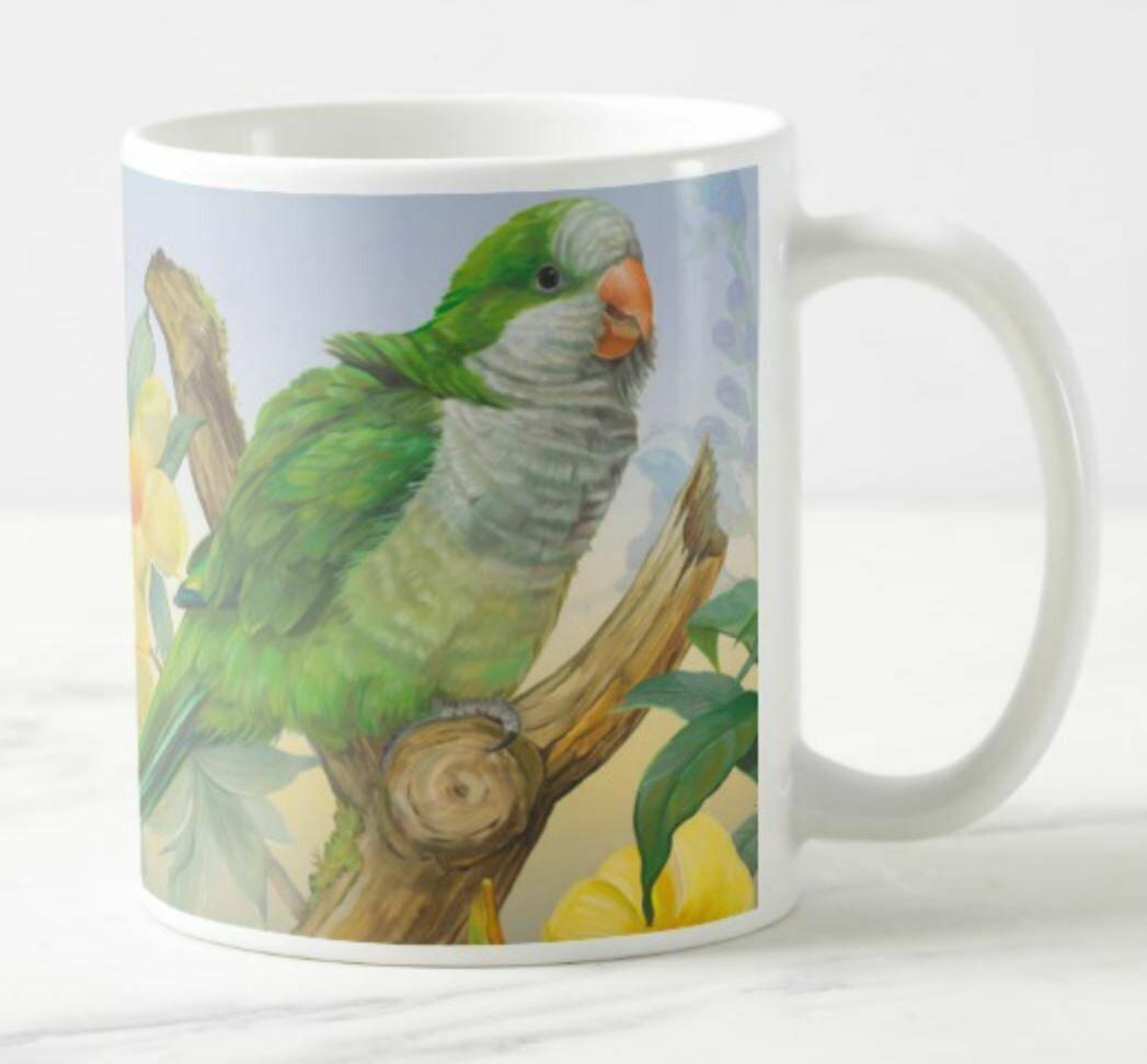 Quaker Parrot  - Ceramic Mug