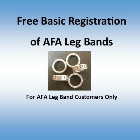 AFA Leg band FREE Basic Registration (For Leg band Customers Only)