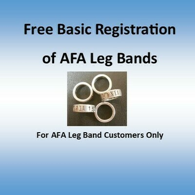 AFA Leg band FREE Basic Registration (For Leg band Customers Only)