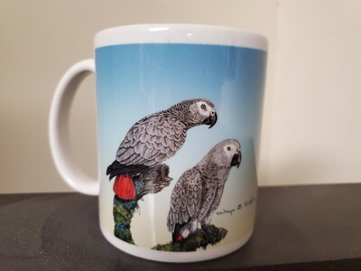 Grey Parrot  - Ceramic Mug