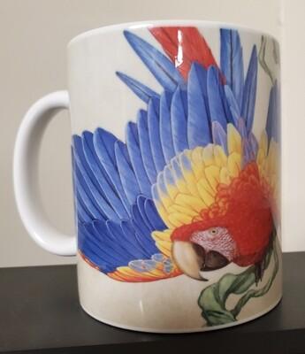 Scarlet Macaw on vine  - Ceramic Mug