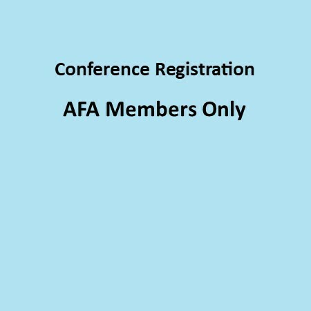 AFA Members:  3 Day Full Conference Registration