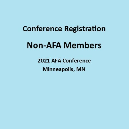 Non-AFA Members:  3 Day Full Conference Registration