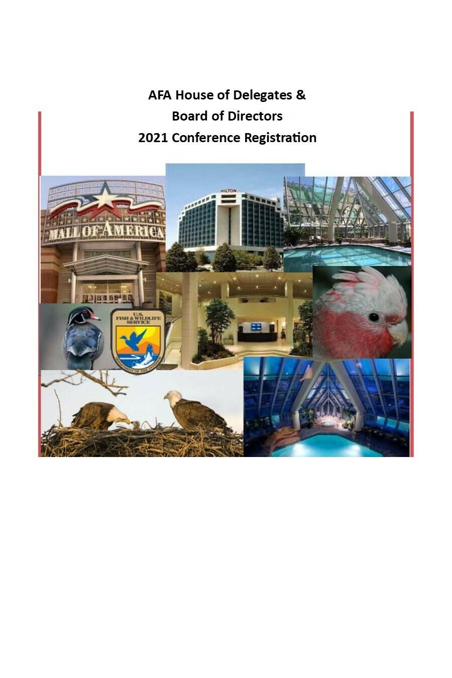 House of Delegates 3 Day Conference Registration