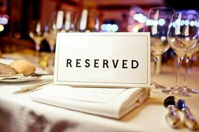 RESERVE FULL TABLE: Conference Banquet, Saturday Night, August 14th