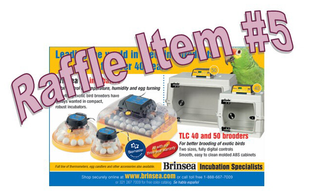Super 8 Raffle Ticket Prize #5 Brinsea Brooder