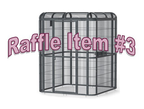 Super 8 Raffle Ticket Prize #3 Large Double Macaw Cage or Walk-in Cage