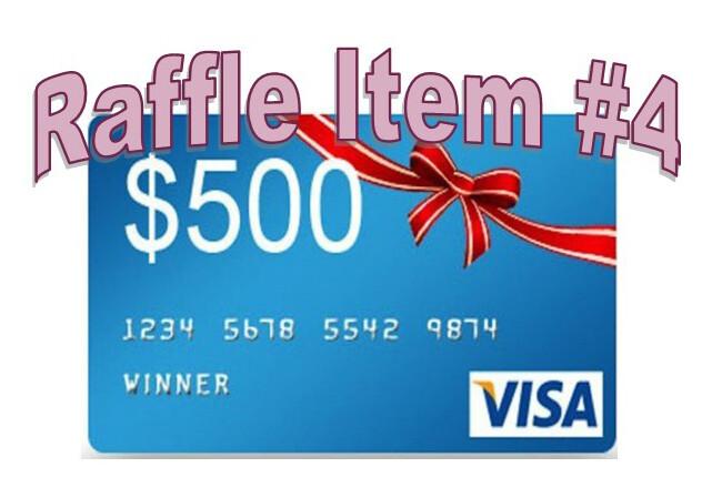 Super 8 Raffle Ticket Prize #4 $500 Visa Card
