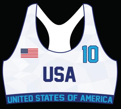 USA Beach Handball OFFICIAL Game Sports Bra Uniform Top