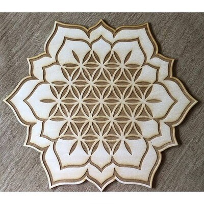 Flower of Life Lotus 1 Crystal Grid 8 inches
