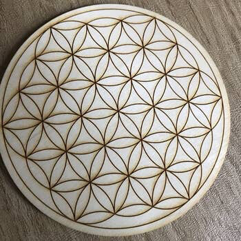 Flower of Life Crystal Grid 8 inches
