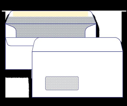 17438 - DLX Barcode Window Face Secretive Self Seal