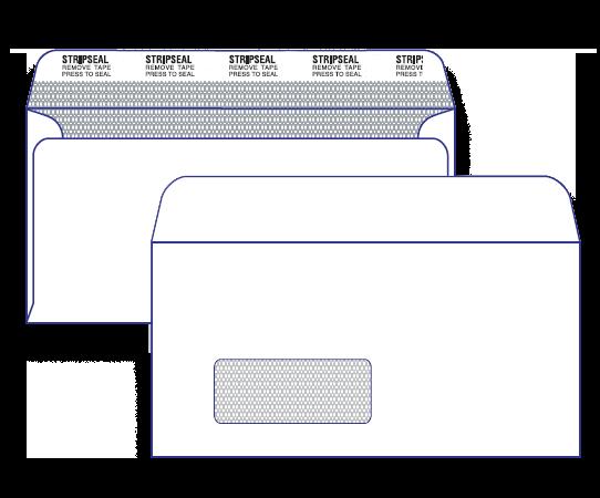17638 - DLX Barcode Window Face Secretive Peel & Seal