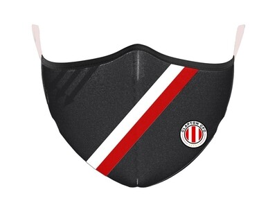 Face Mask - Black with Home Stripes