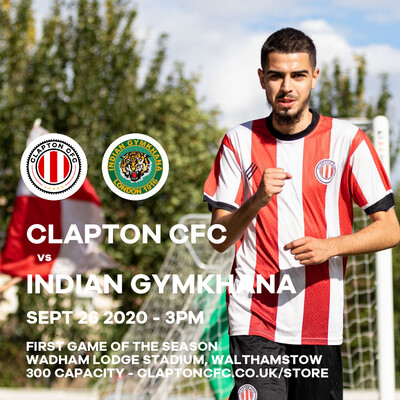 Match Reservation: CCFC v Indian Gymkhana - 26/09/20